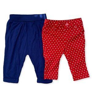 Baby gap star pants size 0-3 M  & koala baby MC hammer pants 3m for baby girl
